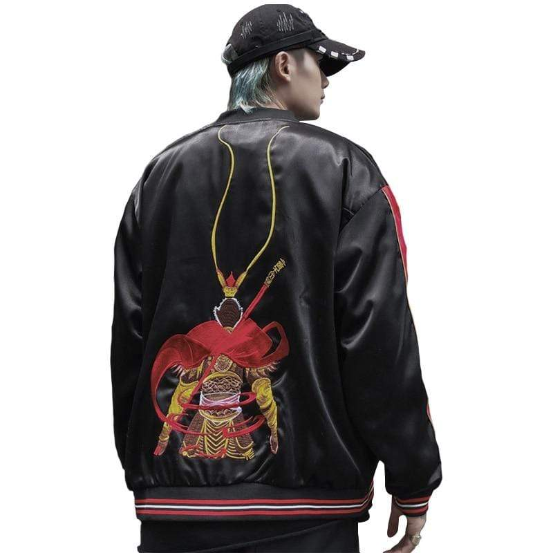 """Alien Prince"" Embroiderey Jacket Streetwear Clothing Raikago"