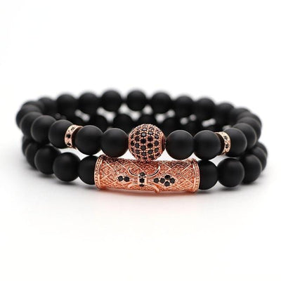 Bracelets  2Pcs/Set Natural Stone Streetwear Clothing Raikago