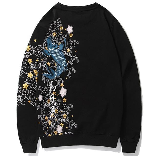 """Burūkoi"" Embroidered Sweatshirt"