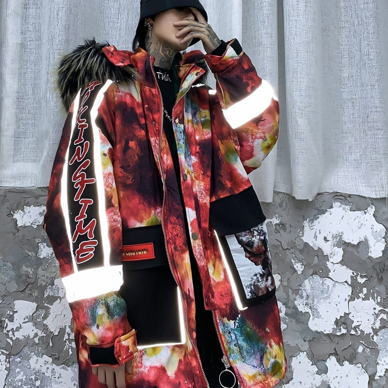"""Color Block""  Winter Coat Streetwear Clothing Raikago"