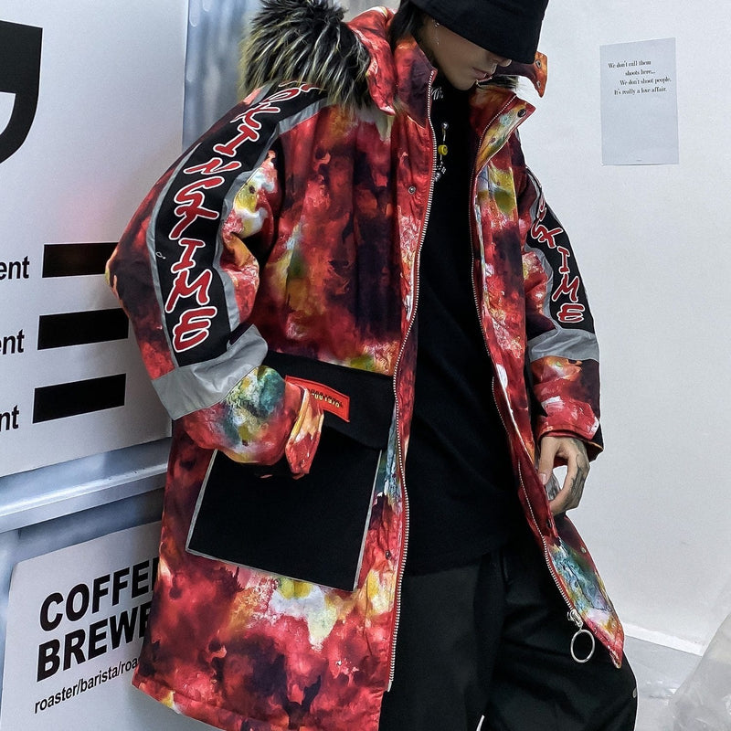 """Color Block""  Winter Coat"
