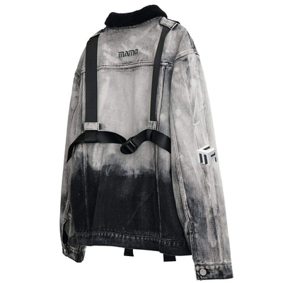 Dark Dipped Ombre Jean Jacket Streetwear Clothing Raikago