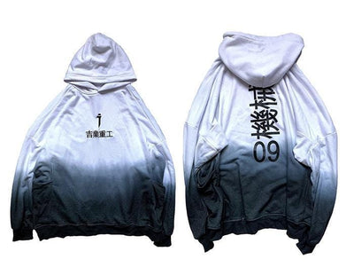 """Dark Gradient"" Techwear Hoodie Streetwear Clothing Raikago"