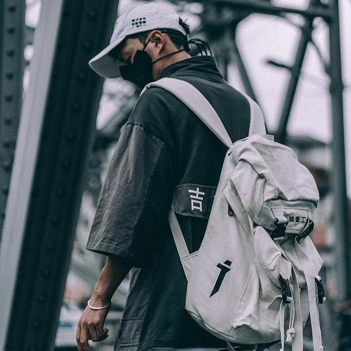 """Dark Mass"" Techwear Backpack Streetwear Clothing Raikago"