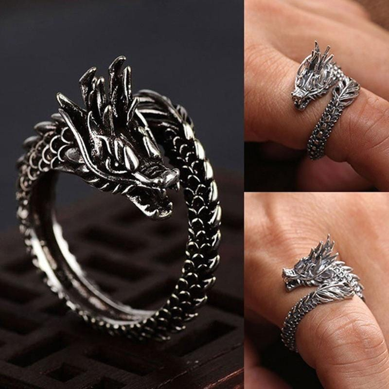 """Dragon Tail"" Ring Streetwear Clothing Raikago"
