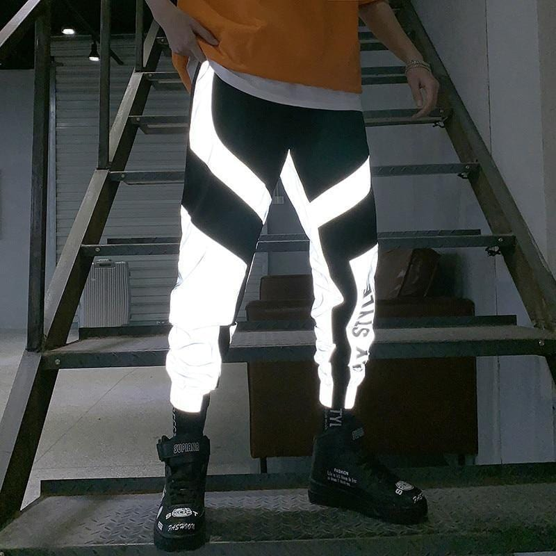Flashy Reflective Joggers Men and Women