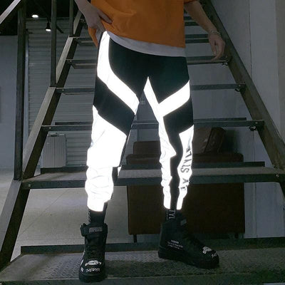 Flashy Reflective Joggers Men and Women Streetwear Clothing Raikago