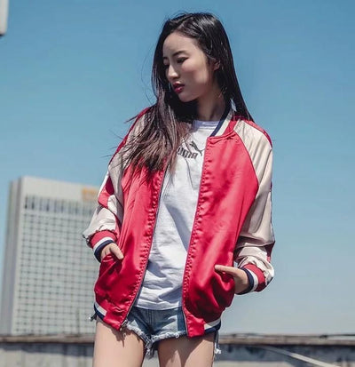 Fox Embroidered Sukajan Jackets Streetwear Clothing Raikago