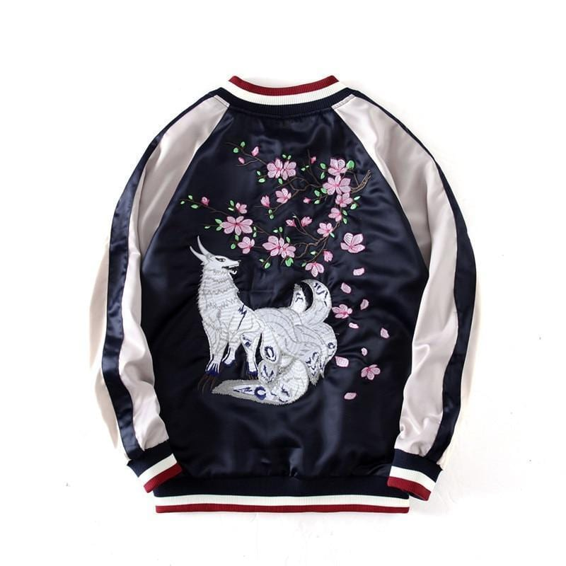 Fox Embroidered Sukajan Jacket