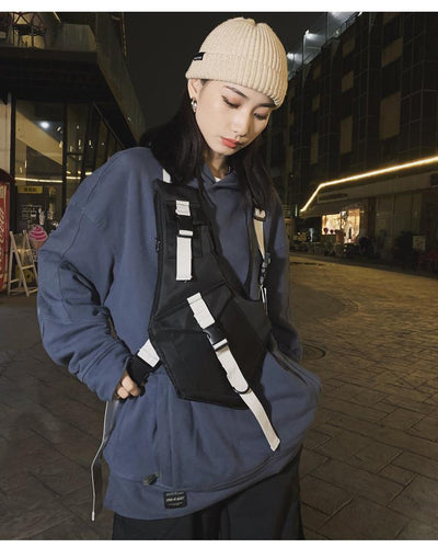 Futuristic Chest pack Streetwear Clothing Raikago
