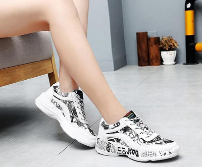 """Graffiti"" Women Sneakers Streetwear Clothing Raikago"
