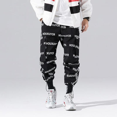 """iie"" Mens letter printed  Joggers Streetwear Clothing Raikago"