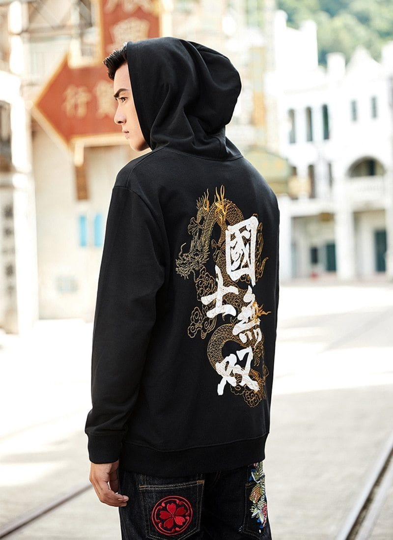 """Chinese Dragon"" Embroidery Hoodie"