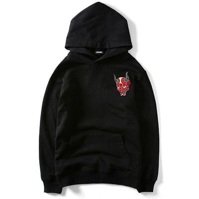 "Japanese Style Embroidery ""Devil"" Streetwear Clothing Raikago"