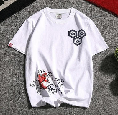 """Kuang"" Japan Koi T-Shirt Streetwear Clothing Raikago"