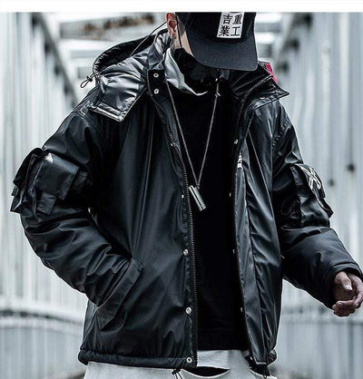 Leather  Jacket Techwear Streetwear Clothing Raikago