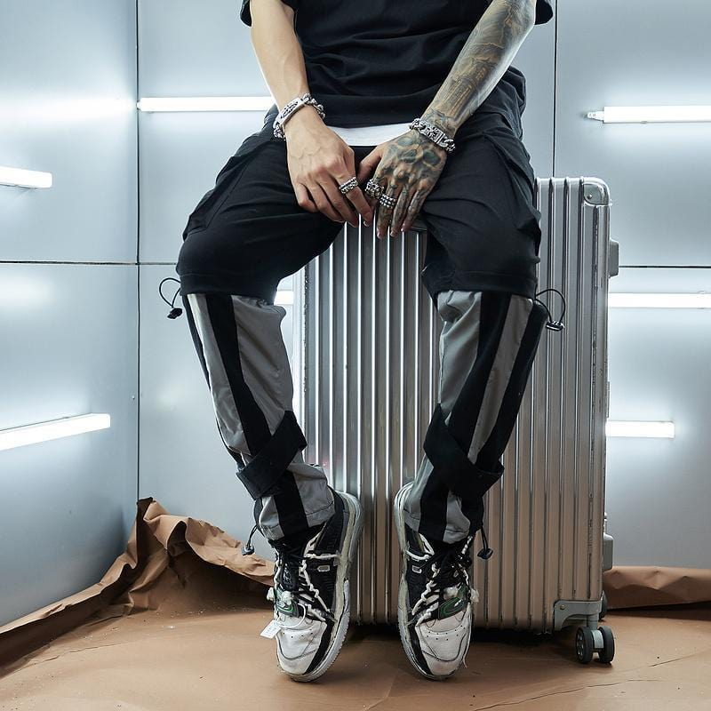 Men's Futuristic Reflective Jogger Pants