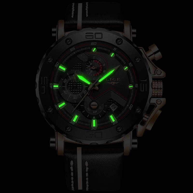Men's Luxury Glow N The Dark Sport Watch
