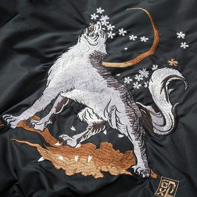 """Midnight Wolf"" Bomber Streetwear Clothing Raikago"