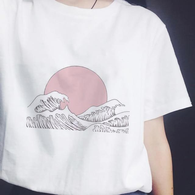 """Over The Sea"" Women's Graphic T-Shirts"