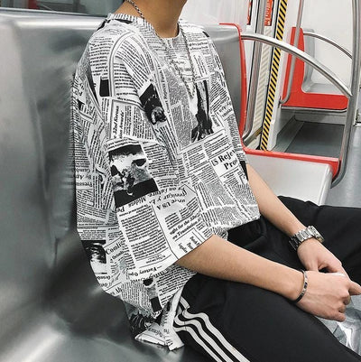 """Press"" Graphic Printed T-Shirt Streetwear Clothing Raikago"
