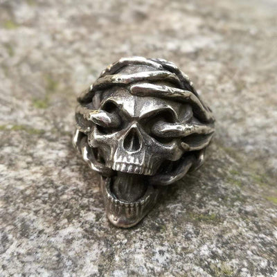 """Scream"" Biker Ring Streetwear Clothing Raikago"
