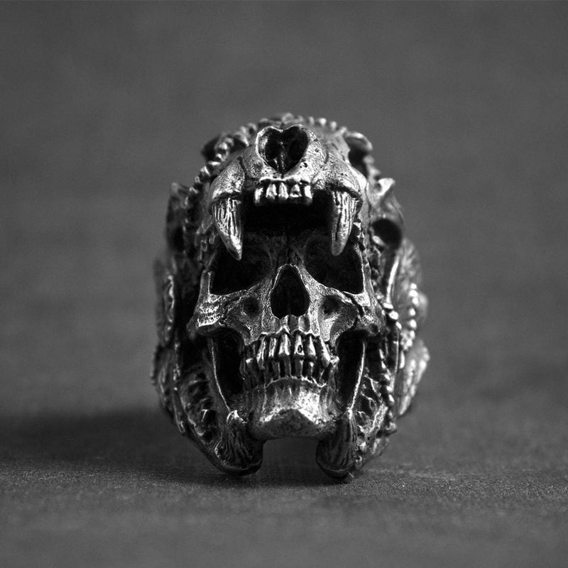 """Kowai"" Stainless Steel Biker Rings"