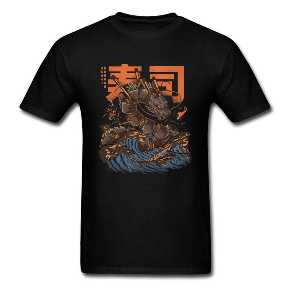 Sushi Dragon T-shirts Streetwear Clothing Raikago