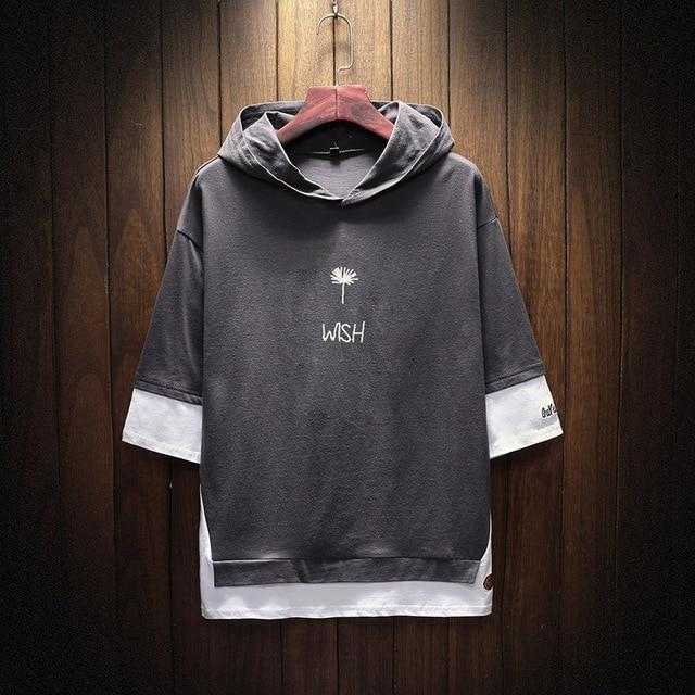 """Jō"" Men's Hooded T-shirt"