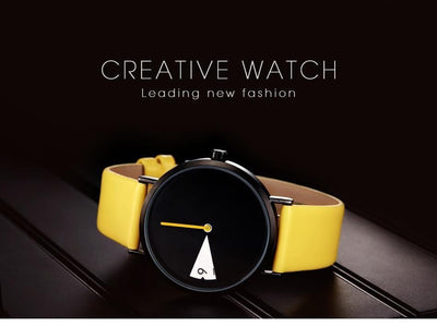 """Tokei"" Black and Yellow Wristwatch Streetwear Clothing Raikago"