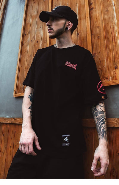"""Ukiyo"" Cotton T-shirts Streetwear Clothing Raikago"