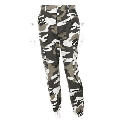 Women High Waist Camouflage Pants Fashion Pantalon Femme Trouser Ankle-Length Sweatpants Cotton Streetwear Camo Pants Femme Streetwear Clothing Raikago