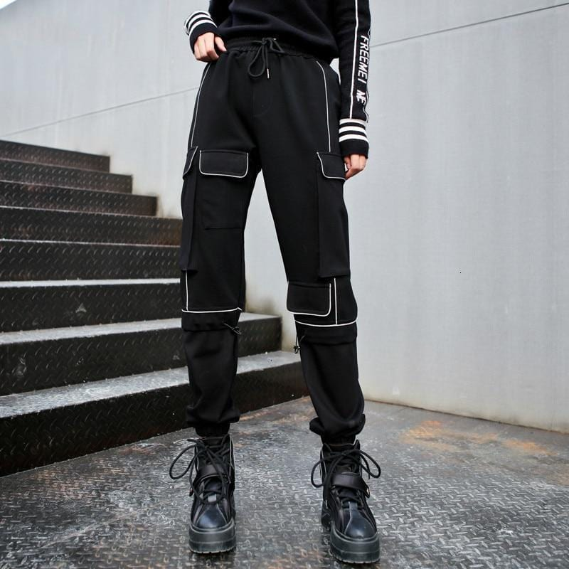 Women's High Waisted Black Joggers