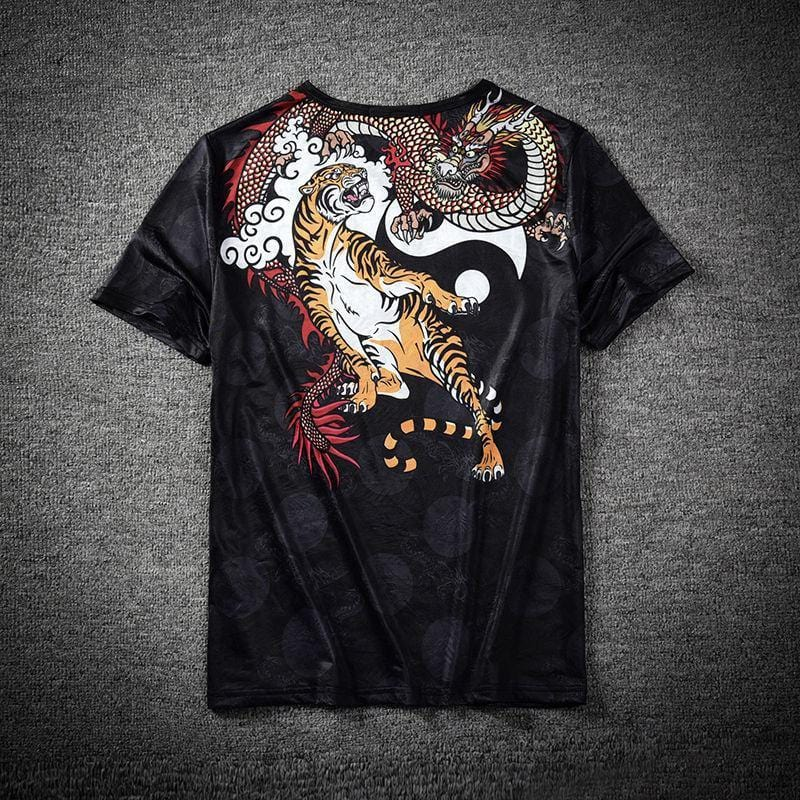"""Yūrei"" 3D T-shirt Chinese Dragon & Tiger"