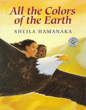 Book Cover of An eagle carrying  two children of black and brown skin