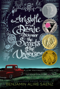 Book Cover with  Red Truck in landscape and award seals