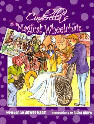 Book cover Cinderella in wheelchair with prince and photographers