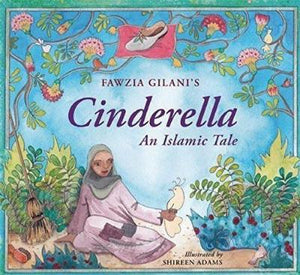 Book cover a Muslim girl sitting under flowers holding a white bird