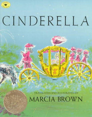 Book cover Cinderella in golden carriage with pink horsemen