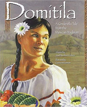 Book cover  Girl with Dark braided hair wearing white dress and white flower