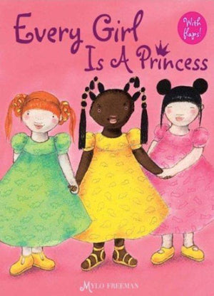 Book Cover 3 girls, one white with red hair.  one Black with braids and one of Asian descent with buns, holding hands