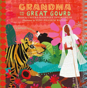 Book cover with Tiger, Bear Indian Grandma wearing white