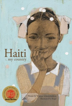 Book cover of Painting of Black girl with her hand on her chin, wearing a blouse and with ribbons in her hair