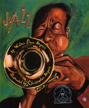 Book cover: African American man playing Trumpet