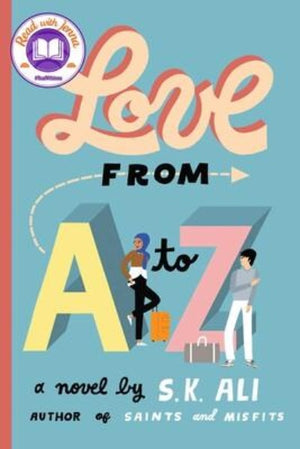 Book Cover: Two diverse teens with suitcases by the letters A to Z