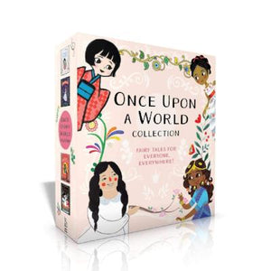 Book cover: Four Diverse fairy tale princesses on the box collection cover