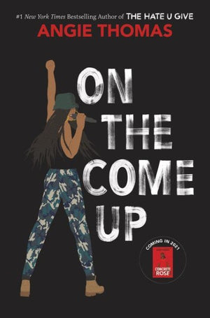 Book cover: a Black girl standing facing away, turning to the front with a microphone