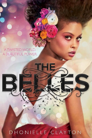 Book cover: African-American Girl with flowers in her hair, looking over her shoulder to face front with the Title over her white top
