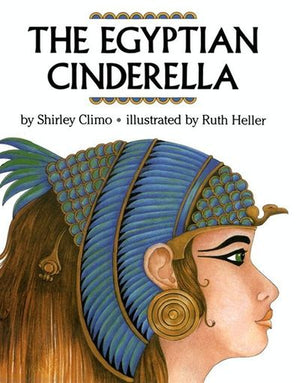 Book cover: A drawing of a blond Ancient Egyptian girl in headdress in profle