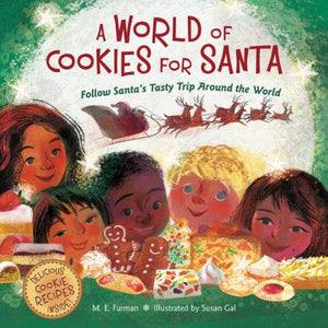 Book cover, Diverse children's faces with cookies and baked treats
